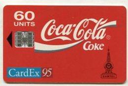 TK 8483 GAMBIA - Chip 60 U. CardEx95 & Coca-Cola