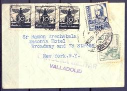 1938 , GUERRA CIVIL , VALLADOLID - NUEVA YORK , CENSURA MILITAR , AUXILIO DE INVIERNO - 1931-Hoy: 2ª República - ... Juan Carlos I