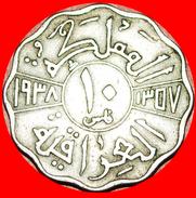 § GREAT BRITAIN: IRAQ ★ 10 FILS 1357-1938! LOW START★ NO RESERVE! Ghazi I (1933-1939) - Iraq