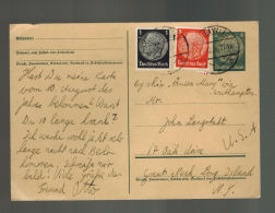 1936 Gleiwitz Germany Via RMS Queen Mary Ship Cover To USA - Unclassified