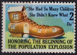 Population Explosion JOKE / LABEL CINDERELLA VIGNETTE - MNH - USA - Cinderellas