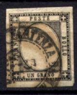Province Napoletane 1861 1 G. Sass.8 O/Us VF/F - Nuevos