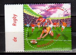 2015 Monaco -  Rugby World Cup In England/ Wales - 1 V Paper - MNH** Oval Stamp - Rugby