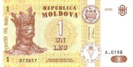 MOLDOVA 1 LEU 2006 P-8g  I (BFR) [MD108g] - Moldova