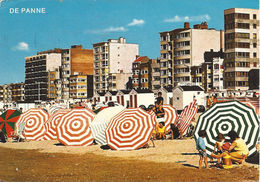 De Panne Belgium Beach Scene - Posted With Stamp - Belgium
