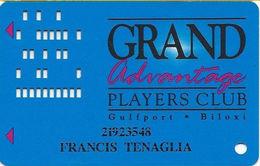 Grand Casino Gulfport  MS - 3rd Issue Slot Card - No Signature Strip - Also Used At Grand Casino BIloxi MS - Casino Cards