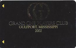 Grand Casino Gulfport  MS - Slot Card - Grand One Players Club 2002 BLANK - Casino Cards