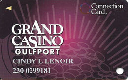 Grand Casino Gulfport  MS - Slot Card - Right Reverse Text NOT Aligned - Casino Cards