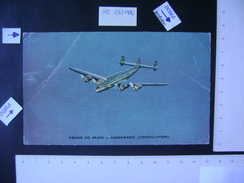 ORIGINAL COMPANY POSTCARD AIRPLANE BANDEIRANTE (CONSTELLATION) OF PANAIR (BRAZIL) IN THE STATE - 1946-....: Moderne