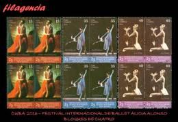 CUBA. BLOQUES DE CUATRO. 2016-38 FESTIVAL INTERNACIONAL DE BALLET ALICIA ALONSO - Cuba
