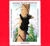 USA - STATI UNITI - Usato - 1987 - Animali Selvatici - Black Bear (Ursus Americanus) - Wildlife Resources - Vignetta - Errors, Freaks & Oddities (EFOs)