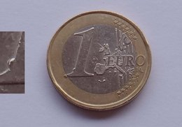 N. 50 ERRORE EURO !!! 1 € 1999 FRANCIA ESUBERO DI METALLO 1 DEL VALORE !!! - Errores Y Curiosidades