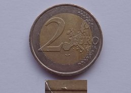 N. 51 ERRORE EURO !!! 2 € 2001 FRANCIA ESUBERO DI METALLO 2 DEL VALORE !!! - Errores Y Curiosidades