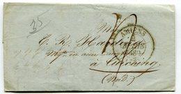 SOMME De AMIENS Cachet T13 Sur LAC De 1839 Taxée 4 Pour TOURCOING - Storia Postale