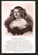 CPA Illustrateur Marie De Rabutin Chantal, Marquise De Sévigné , Portrait Der Adeligen - Royal Families