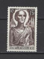 ALGERIE . YT  318  Neuf **  16e Centenaire De La Naissance De Saint Augustin  1954 - Algérie (1924-1962)