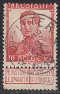 BELGIUM     SCOTT NO. 103    USED      YEAR  1912 - 1912 Pellens