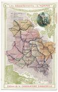 CPA - Carte Du Département De L'Yonne - Edition De La Chocolaterie Aiguebelle. - Francia