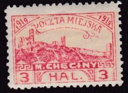 POLAND Checiny Local 1919 3 Hal Perf Mint - Polen