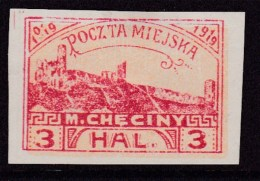 POLAND Checiny Local 1919 3 Hal Imperf Mint - Polen