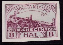 POLAND Checiny Local 1919 8 Hal Imperf Mint - Polen