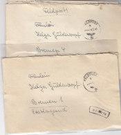 2 Feldpostbriefe Mit Inhalt Aus ESBJERG Vom Inf.Ers.Btl. 220 - Briefe U. Dokumente