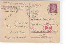 Karte Aus Heydebreck (Oberschlesien) 15.5.44 Aus Gefangenlager/ Nach Neuilly Sur Marne - Zensur - Briefe U. Dokumente