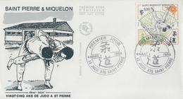 Enveloppe  FDC  1er  Jour   SAINT  PIERRE  ET  MIQUELON    JUDO   1989