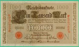 1000 Mark  - Allemagne - Reichsbanknote - N° 0107404H - 21 Avril 1910 - Spl - - 1000 Mark