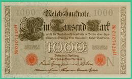 1000 Mark  - Allemagne - Reichsbanknote - N° 0107429H - 21 Avril 1910 - Spl - - [ 2] 1871-1918 : German Empire