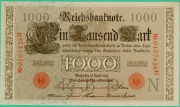 1000 Mark  - Allemagne - Reichsbanknote - N° 0107428H - 21 Avril 1910 - Spl - - 1000 Mark