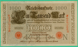 1000 Mark  - Allemagne - Reichsbanknote - N° 0107406H - 21 Avril 1910 - Spl - - 1000 Mark