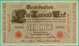 1000 Mark  - Allemagne - Reichsbanknote - N° 0107424H - 21 Avril 1910 - Spl - - [ 2] 1871-1918 : German Empire