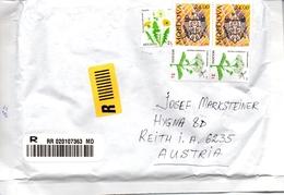 Auslands - Rekobrief Von Moldavien Moldawien Mit 56 Leu Mischfrankatur 2016 - Moldawien (Moldau)