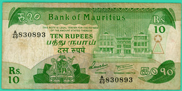 10 Rupees - Bank Of Mauritius - N° A/40 830893 - TB+ - - Maurice