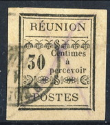 Reunion Tasse 1889 N. 5 C. 30 Nero Usato Cat. € 45 - Portomarken
