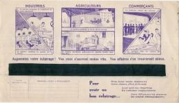 FACTURE  électricité Avec Pub Illustrée -  Energie électrique Du Sud Ouest  - 1937 - Industriels Agriculteurs  ... - Francia