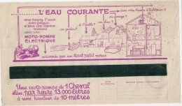FACTURE  électricité Avec Pub Illustrée -  Energie électrique Du Sud Ouest  - 1937 - L'eau Courante  ... - Francia