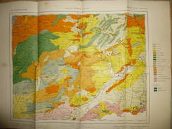 Mapa Geologico De Espana Ca. 1910 - Tercera Edicion - Albacete Murcia Alicante - Hoja N°45 - 40cm X 54cm - Maßstab 1:400 - Topographische Karten