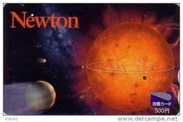 Carte Prépayée Japon - ESPACE ASTRONOMIE - Planète Galaxie - NEWTON - SPACE Japan Astronomy Prepaid Tosho Card - 868 - Astronomie