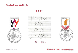 Belg. 1971 - N° 1599 Et 1600 - Festivals Des Flandres Et Wallonie - Belgio