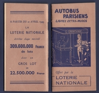 Autobus Parisien - Lignes Extra-muros  - Edition 1949 - Europe