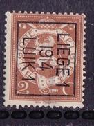 Luik  1914 Typo Nr.53Bzz  Dunne Plek - Vorfrankiert