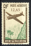Reunion Posta Aerea 1938 N. 5 F. 12,65 Bruno E Verde-giallo MNH Cat. € 2.20 - Luchtpost