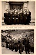 2 Photos Originales Cérémonie Religieuse Dans La Congregation Des Religieuses Diaconesses Lutheriennes D'Allemagne - Personnes Anonymes