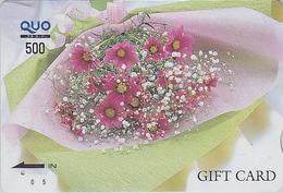 Rare Carte Prépayée Japon - FLEUR - Bouquet - FLOWER Bunch Japan Prepaid Card - Blume Quo Gift Karte - Carte Cadeau 2026 - Fleurs