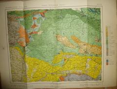 Mapa Geologico De Espana Ca. 1910 - Tercera Edicion - Burgos Santander Vizcaya - Hoja N°12 - 40cm X 54cm - Maßstab 1:400 - Topographische Karten