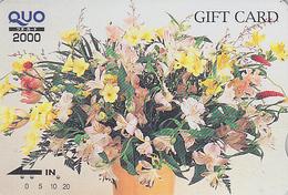 Rare Carte Prépayée Japon - FLEUR - Bouquet - FLOWER Bunch Japan Prepaid Card - Blume Quo Gift Karte - Carte Cadeau 2027 - Fleurs