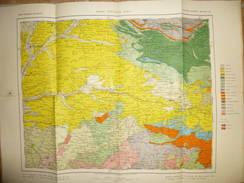 Mapa Geologico De Espana Ca. 1910 - Tercera Edicion - Segovia Palencia Burgos - Hoja N°20 - 40cm X 54cm - Maßstab 1:400' - Topographische Karten