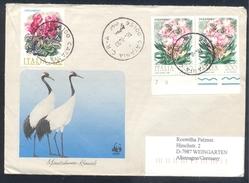 Italia 1993 Illustrated Cover: Flora Flowers Blume Fleur Fiori: Ciclame Oleander; Fauna WWF Mandschuren Kranich; Crane - Autres